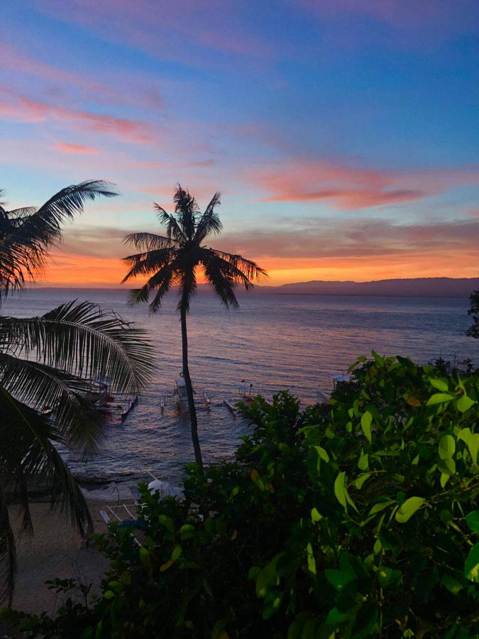 Apo-Island-zonsondergang