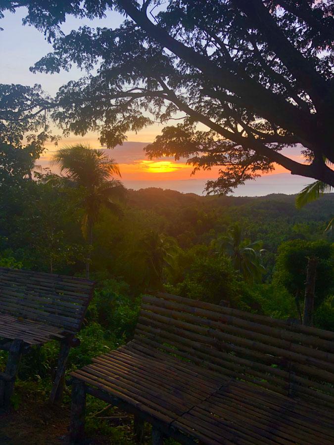 Mount-Bandilaan-zonsondergang