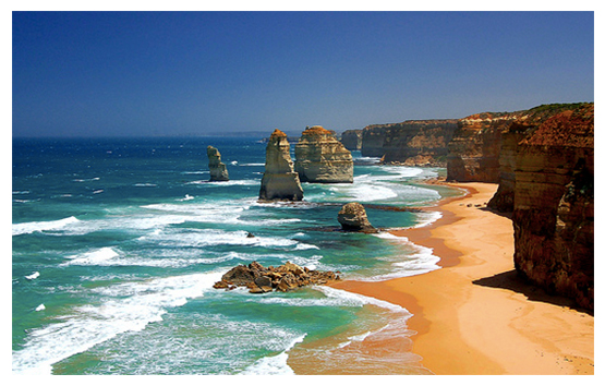 De '12 Apostles' die je langs de Great Ocean Road vindt