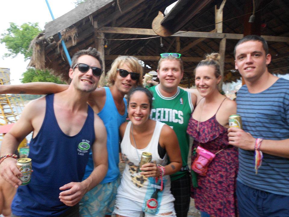 Reisgenoten in Vang Vieng (Laos)