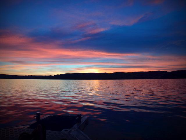 Lake Argyle zonsondergang
