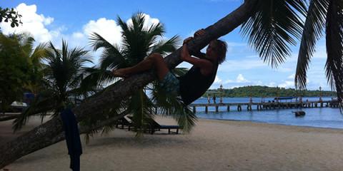 Ik op Victory Beach