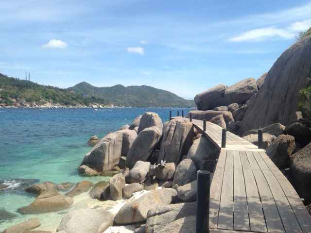 Koh Nang Yuan boardwalk