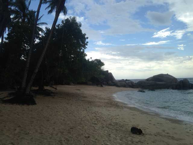 Sai Nuan Beach 1 na een tropische stortbui