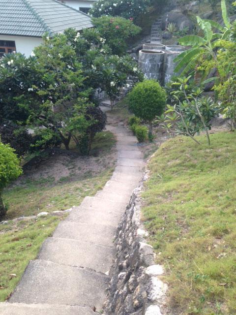 De weg naar Tanote Bay