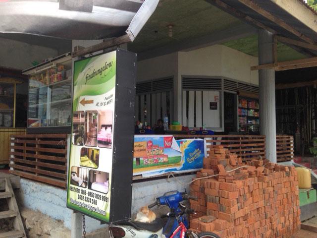 De 'warung' in Iboih village waar je heerlijk kunt eten