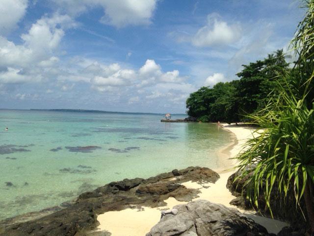 Een van de stranden van Batu Topeng