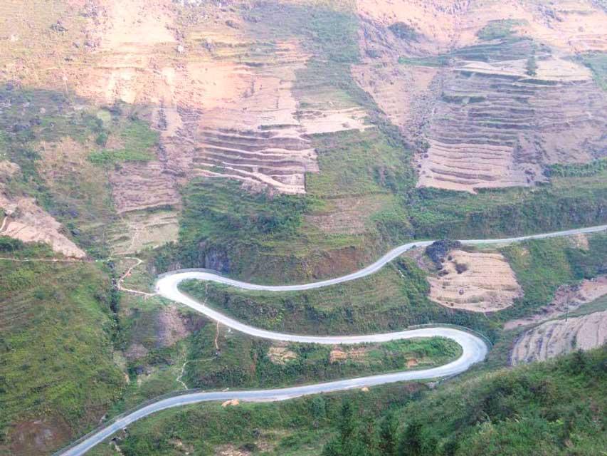 Ma Pi Leng Pass zigzagweg