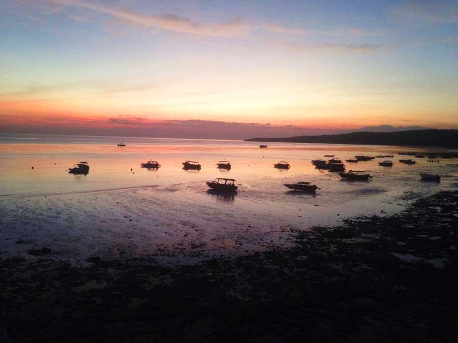 Pantai-Bira-zonsondergang