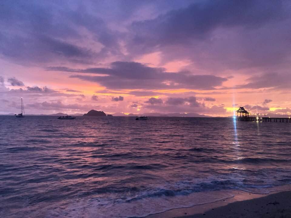 Loh Paret Beach zonsondergang 2